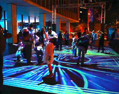 "Vivid ""Solstice Lamp"" installation video"